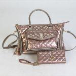 マダムミーナ 斜め掛けバッグ/エナメルキルティング財布