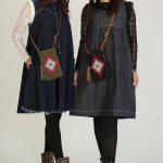マダムミーナ ボヘミアン刺繍バッグ・携帯ケース