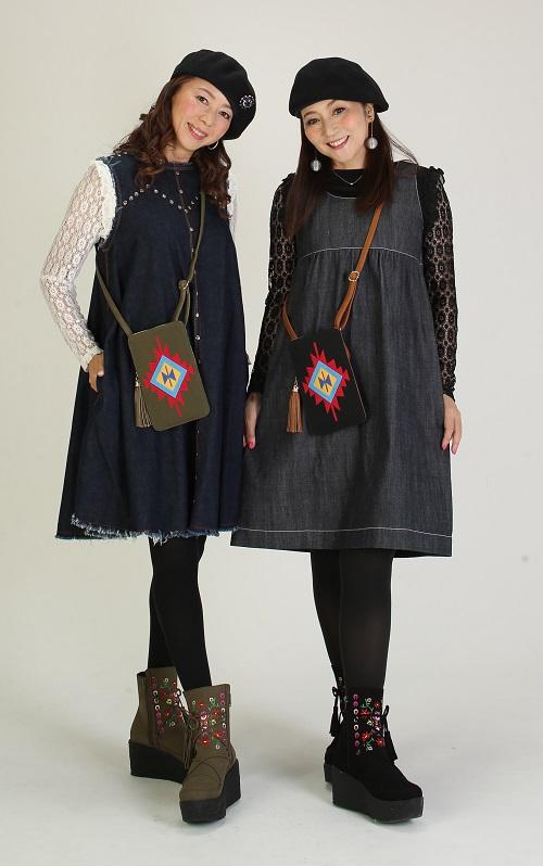 マダムミーナ 刺繍付きボヘミアンショートブーツ
