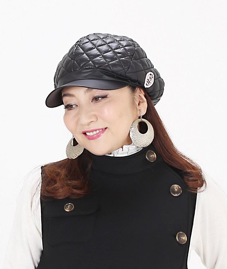 マダムミーナ キルティングキャスケット帽