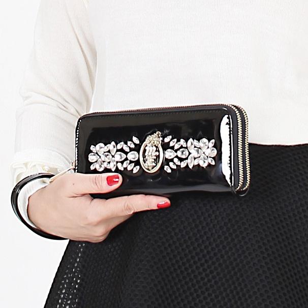 マダムミーナ 持ってミーナ財布クリスタル